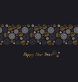 luxury gold and black header template vector image