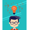 Man thinking making choise selecting what idea vector image vector image