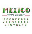 mexico alphabet set vector image vector image