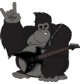 Monkey with a guitar vector image vector image