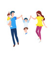 mother and father with son and daughter vector image vector image