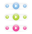Music player buttons vector image vector image
