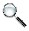 object magnifier vector image vector image