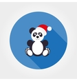 Panda in Santa hat vector image