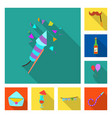 party and birthday logo vector image vector image