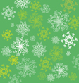 pattern with abstract flowers on green back vector image