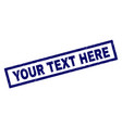 rectangle grunge your text here stamp vector image