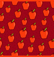 red apple seamless background vector image vector image