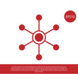 red network icon isolated on white background vector image vector image