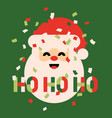 retro style christmas card with cute santa claus vector image vector image