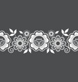 seamless lace pattern horizontal design with rose vector image vector image