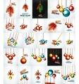 Set of Christmas baubles New Year Concepts vector image