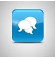Shine Glossy Computer Icon Feedback vector image vector image