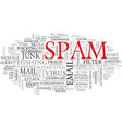 spam word cloud concept vector image vector image