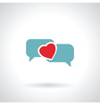 speech bubble heart vector image vector image