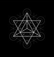 star tetrahedron from metatrons cube sacred vector image vector image