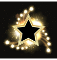 Stars sparkling gold background design with star vector image vector image