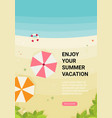 summer holidays flat design beach vector image vector image