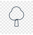 tree concept linear icon isolated on transparent vector image vector image
