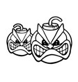 two angry bombs vector image vector image
