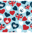 uk hearts pattern vector image