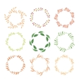 Watercolor wreaths vector image vector image