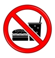 No Food Allowed Symbol Prohibition Sign vector image