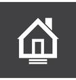 House Icon On Dark vector image