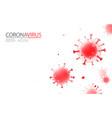 abstract 3d coronavirus background coronavirus vector image vector image