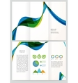 Abstract Geometric Brochure Template vector image vector image