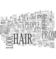 african american hair style for the prom text vector image vector image