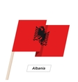 Albania Ribbon Waving Flag Isolated on White vector image vector image