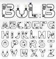 alphabet set 02 vector image vector image