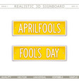 aprilfools fools day vector image vector image