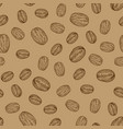 background with hand drawn natural coffee beans vector image