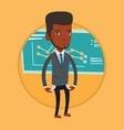 bancrupt business man vector image
