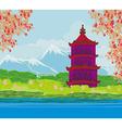 Beautiful landscape in Japan vector image