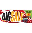 big sale deal 8000x3198 pixel banner vector image vector image