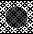black and white flower pattern for background vector image