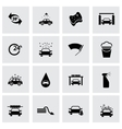 black car wash icon set vector image