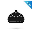 black jewish sweet bakery icon isolated on white vector image vector image
