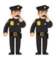 blow whistle policeman warning flat design vector image vector image