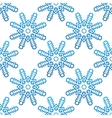 Blue snowflakes seamless pattern background vector image vector image