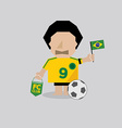 brazilian soccer or football man vector image vector image