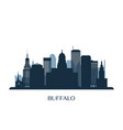 buffalo skyline monochrome silhouette vector image vector image
