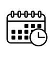 calendar icon schedule date symbol vector image
