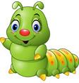 cartoon green caterpillar vector image