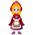 cartoon little red riding hood vector image vector image