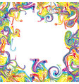 chaotic colorful wavy lines twisted into spirals vector image vector image