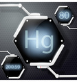 chemical element mercury vector image vector image